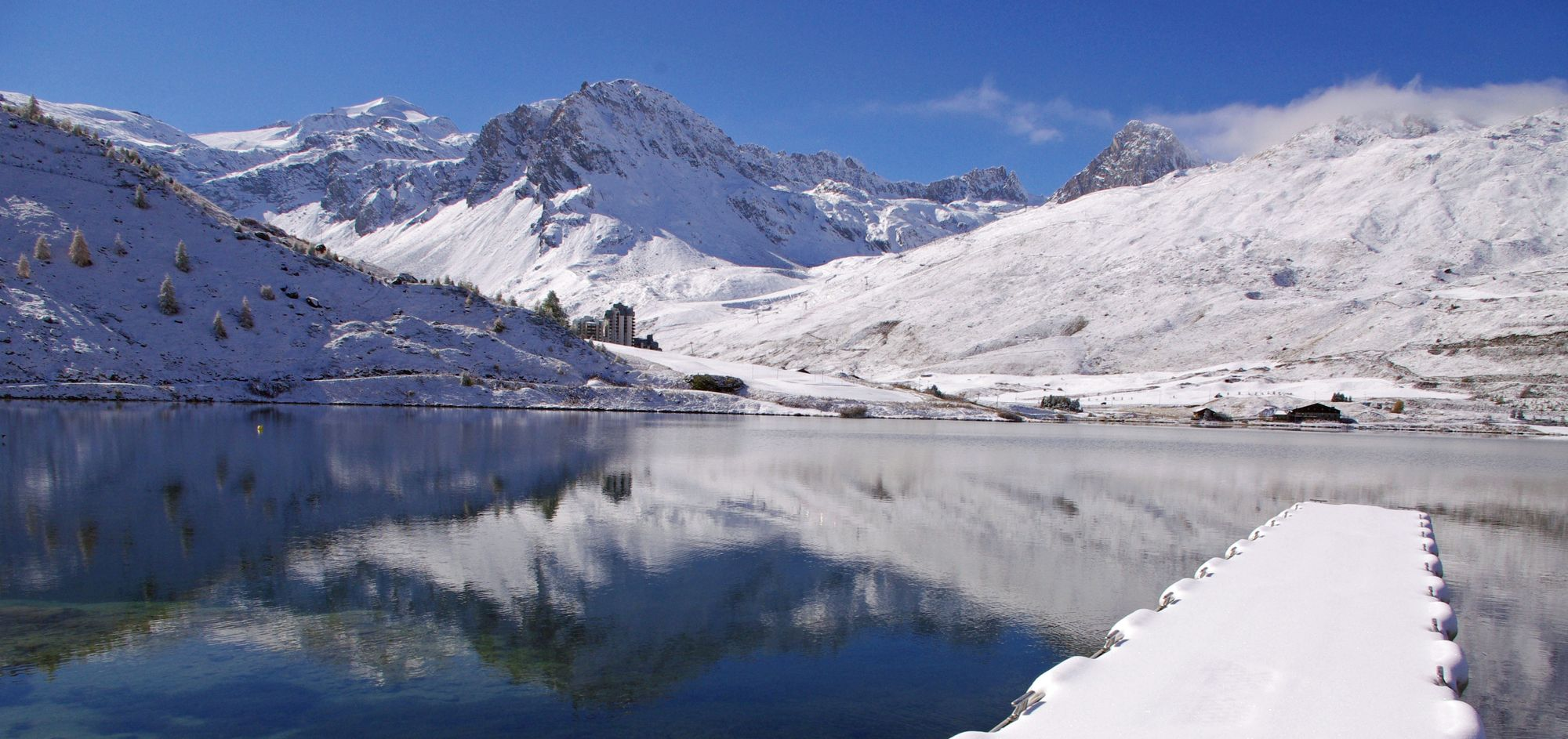 In Tignes, your window opens on the lake, the glacier